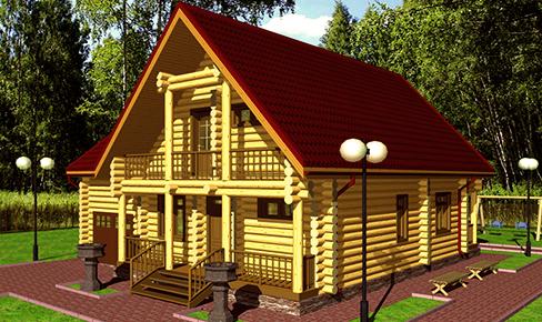 деревянный дом 180 кв.м, rounded log house 180 m2