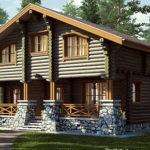 деревянный дом 182 кв.м, rounded log house 182 m2