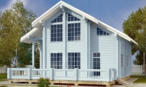 деревянный дом 183 кв.м, profiled timber house 183 m2