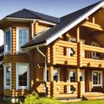 деревянный дом 184 кв.м, rounded log house 184 m2