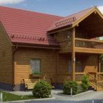 деревянный дом 187 кв.м, profiled timber house 187 m2