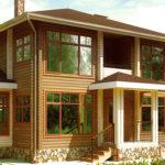 деревянный дом 193 кв.м, profiled timber house 193 m2