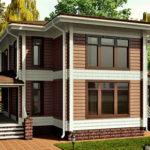 деревянный дом 195 кв.м, profiled timber house 195 m2