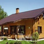 деревянный дом 198 кв.м, rounded log house 198 m2