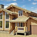 деревянный дом 205 кв.м, rounded log house 205 m2