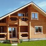деревянный дом 208 кв.м, rounded log house 208 m2