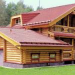 деревянный дом 212 кв.м, rounded log house 212 m2
