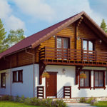 деревянный дом 219 кв.м, profiled timber house 219 m2