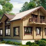 деревянный дом 219.9 кв.м, rounded log house 219 m2