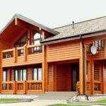 деревянный дом 220.9 кв.м, profiled timber house 220 m2