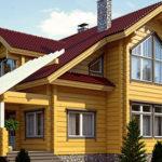 деревянный дом 221 кв.м, profiled timber house 221 m2