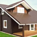 деревянный дом 226 кв.м, rounded log house 226 m2