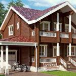 деревянный дом 225 кв.м, profiled timber house 225 m2