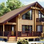 деревянный дом 231 кв.м, rounded log house 231 m2