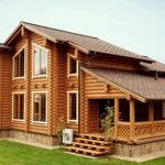 деревянный дом 241 кв.м, rounded log house 241 m2