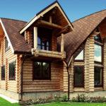 деревянный дом 240 кв.м, rounded log house 240 m2