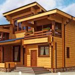 деревянный дом 242 кв.м, profiled timber house 242 m2