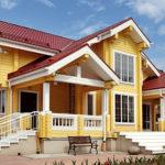 деревянный дом 244 кв.м, profiled timber house 244 m2