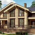 деревянный дом 246 кв.м, glued beam house 246 m2