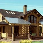 деревянный дом 245 кв.м, profiled timber house 245 m2