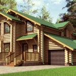 деревянный дом 255 кв.м, rounded log house 255 m2
