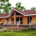 деревянный дом 266 кв.м, glued beam house 266 m2