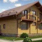 деревянный дом 268 кв.м, profiled timber house 268 m2