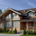 деревянный дом 276 кв.м, profiled timber house 276 m2