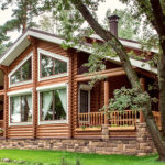 деревянный дом 277 кв.м, rounded log house 277 m2