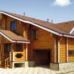 деревянный дом 278 кв.м, rounded log house 278 m2