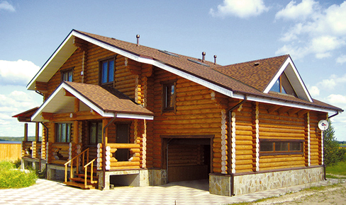 rounded log house 278 m2