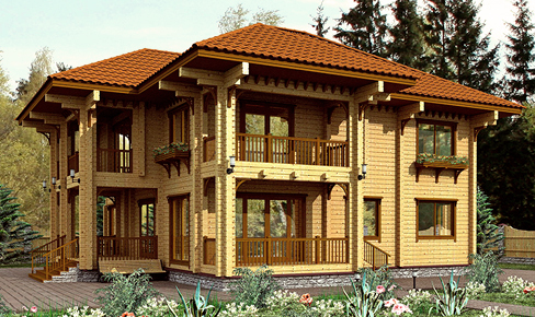 profiled timber house 280 m2
