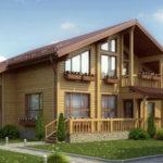деревянный дом 281 кв.м, profiled timber house 281 m2