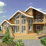 деревянный дом 305 кв.м, rounded log house 305 m2