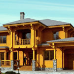 деревянный дом 320 кв.м, profiled timber house 320 m2