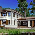 деревянный дом 325 кв.м, profiled timber house 325 m2