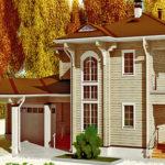 деревянный дом 361 кв.м, profiled timber house 361 m2