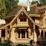 деревянный дом 382 кв.м, rounded log house 382 m2