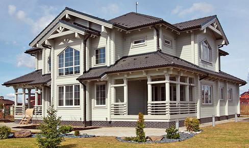 деревянный дом 393 кв.м, glued beam house 393 m2