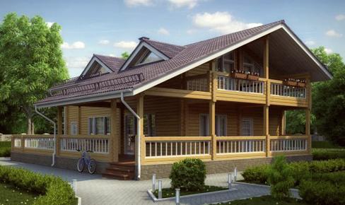 деревянный дом 419 кв.м, profiled timber house 419 m2
