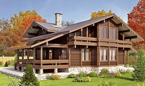 деревянный дом 460 кв.м, glued beam house 460 m2
