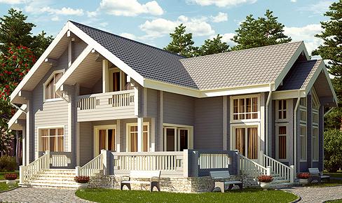 деревянный дом 468 кв.м, glued beam house 468 m2