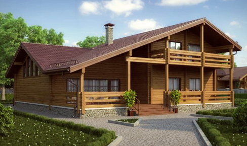 profiled timber house 483 m2