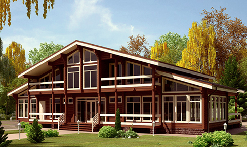 profiled timber house 552 m2