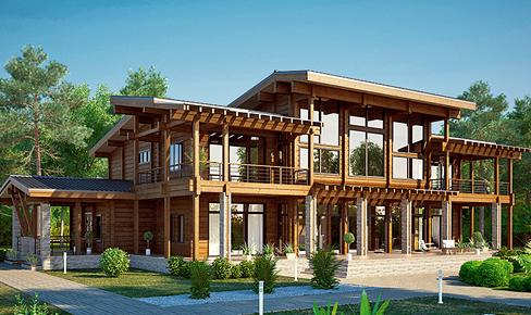 деревянный дом 699 кв.м, profiled timber house 699 m2