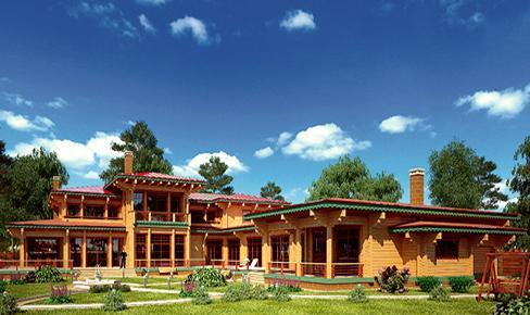 деревянный дом 824 кв.м, profiled timber house 824 m2