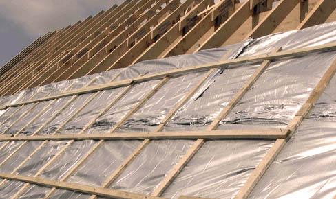 кровельные работы, roof hydro film mounting