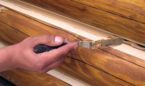 отделка сруба, log insulation