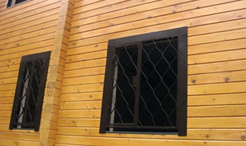 установка решетки на окна, window lattice mounting
