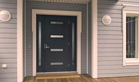 монтаж окон и дверей, metal door mounting